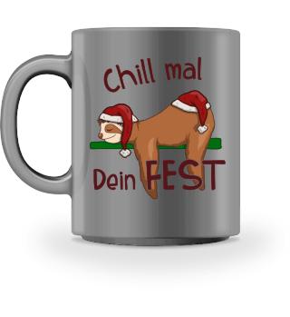 Chill Mal Dein Fest Weihnachts-Faultier