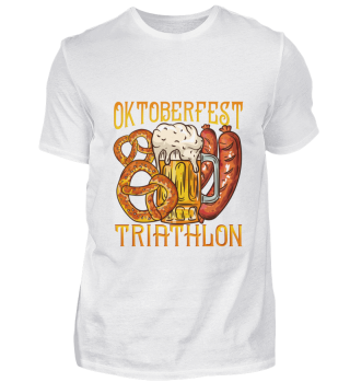 Oktoberfest Triathlon Shirt Beer Sport
