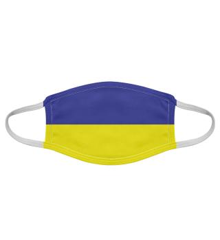 Blau-Gelb Oberlausitzfarben - Maske