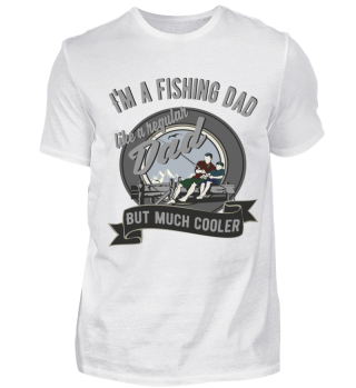 Cool fishing dad | Lustiges Fischer und Angler T Shirt