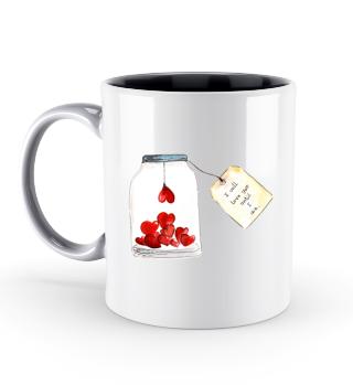Glas voll Liebe Valentinstag Geschenk