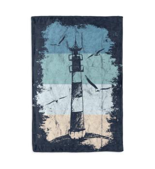 Retro Leuchtturm Decke Ostsee Nordsee