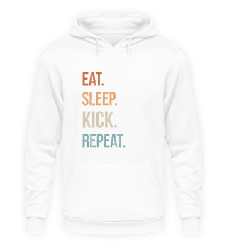 Eat Sleep Kick Repeat Retro Taekwondo