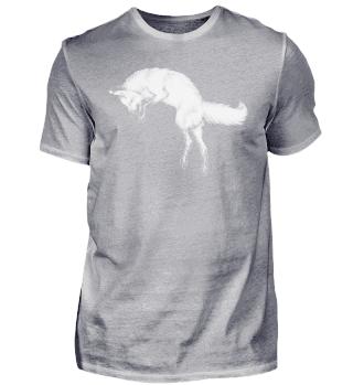 Zeichnung Fuchs springend schwarz weiß