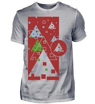 Abstrakte Weihnachtsbäume I