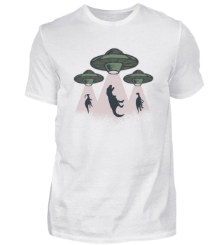 Lusties Alien Shirt - Dinosaurier