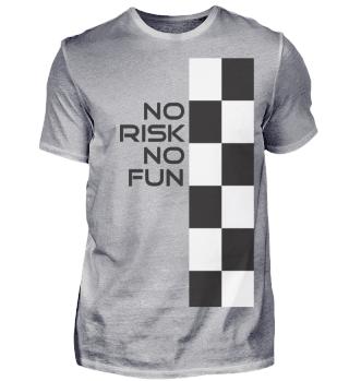 No Risk no Fun Sprüche Auto Motorrad