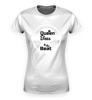 Queen Bees Pr. Organic Damenshirt schw.