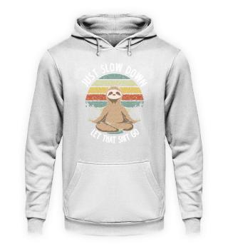 Yoga T-Shirt Just Slow Down Retro