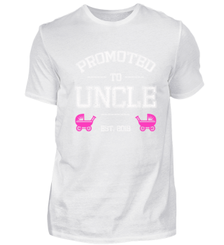 PROMOTED TO UNCLE EST 2019 BABY GIRL TEE