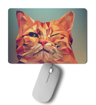 Mousepad mit Katze, blinzelnd
