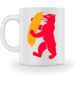 Berlin Bear With Currywurst - Mug