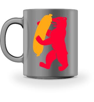 Berlin Bear With Currywurst - Mug