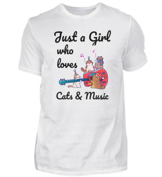 Cat Music Guitar Girls