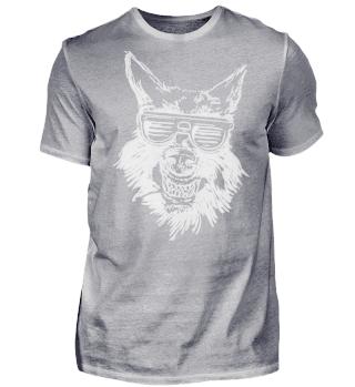 Wolf mit guter Laune