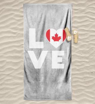I love LOVE Canada Flag Flag Heart