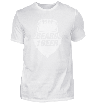 2 Beards 1 Beer - Basic-Fanshirt BW