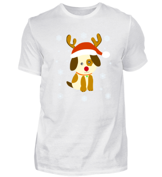 Weihnachten Hund Santa Dog Illustration