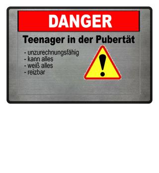 Fussmatte Teenage in der Pubertät