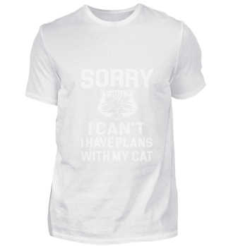 Cat Lovers TShirt Sorry i Cant Gift