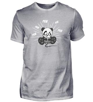 PEW Gamer zockender Panda