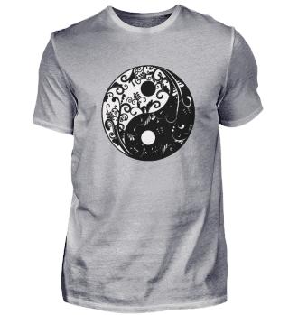YING YANG Shirt (schwarz-Weiss)
