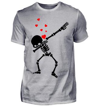 Dabbing Skelett Valentines Day