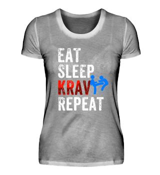 Krav Maga Women T-Shirt Eat, Sleep,Krav