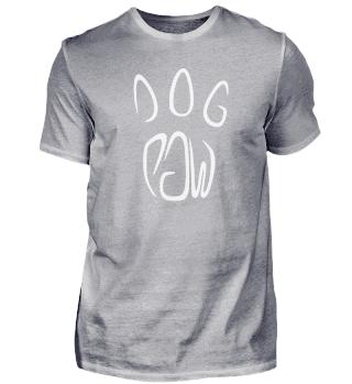 Schriftzug Hunde Pfote
