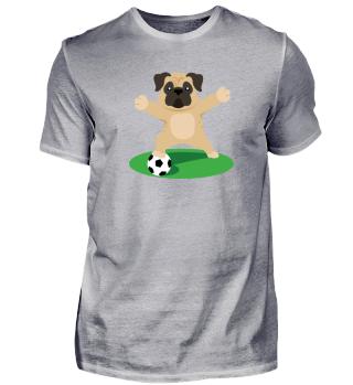 Mops Fußball
