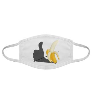 Banane Gefällt mir Pop Art Maske