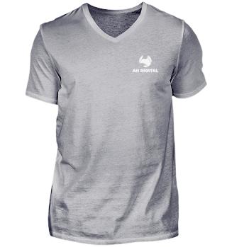 AH Digital V-Neck T-shirt for Men