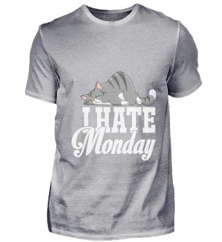 Katzen Montag T Shirt