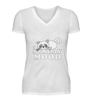 Sunday Mood Chilling Cat Tired Gift