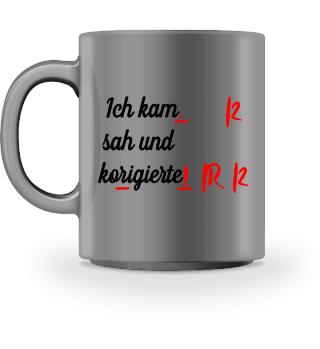 Lustige Tasse für Lehrer   Deutschlehrer
