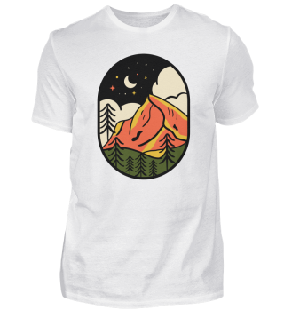 Nacht Berg Mond Wald