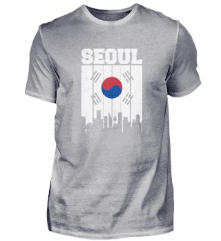 Seoul Skyline Vintage Südkorea Asien Fer