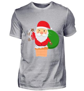 Weihnachtsmann Weihnachten Schornstein
