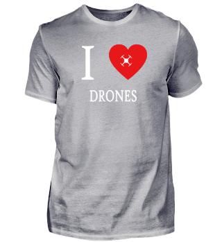 I Love - Drones Drohnen fliegen