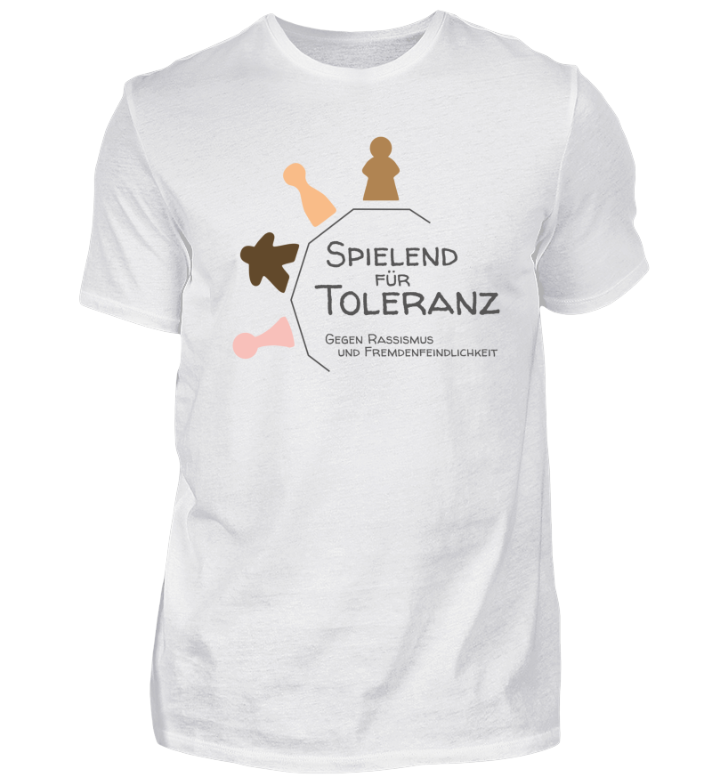 Spielend für Toleranz | Herren Basic T-Shirt - Shirtee.de / T-Shirt ...