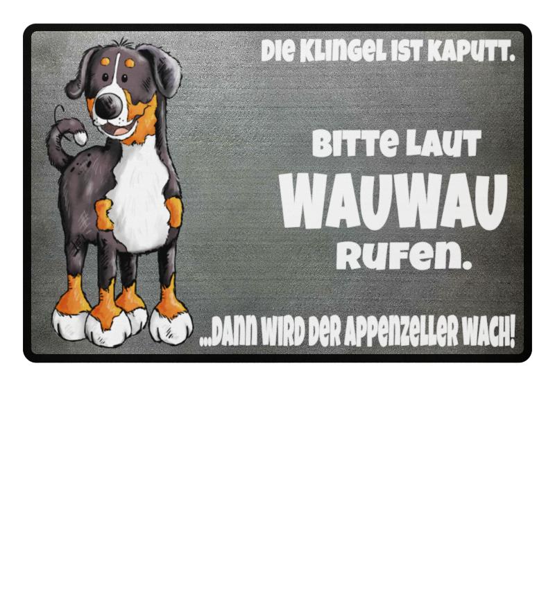 Wauau Rufen Appenzeller Sennenhund Fussmatte Fullprint Shirtee
