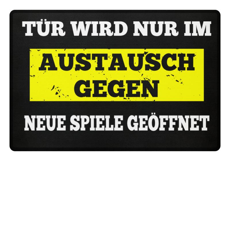 GAMER FUßMATTE GESCHENK GAMING SPIELE | Fußmatte - Shirtee.de / T ...