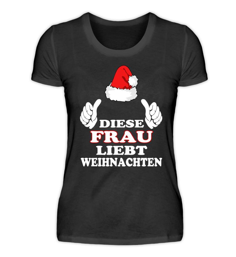 Diese Frau liebt Weihnachten T-Shirt   Damen Premium Shirt - Shirtee ...